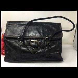 Large Giani Bernini Leather Work Satchel Bag Purse